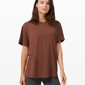 Lululemon all yours tee ancient copper sz 2